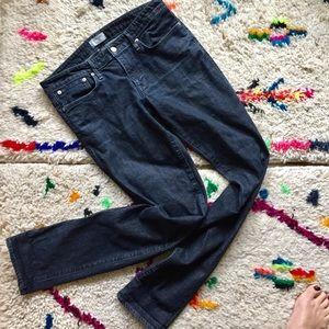 Helmut Lang straight dark jeans